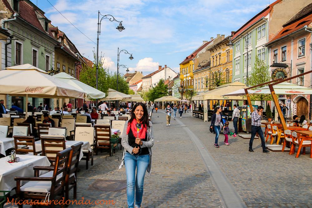 Calles peatonales del centro de Sibiu
