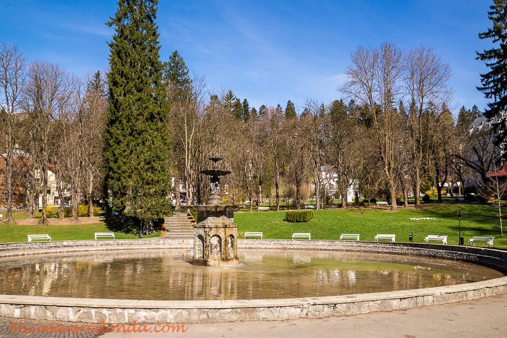 Uno de los principales parques de Sinaia