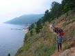 Caminando a orillas del Baikal