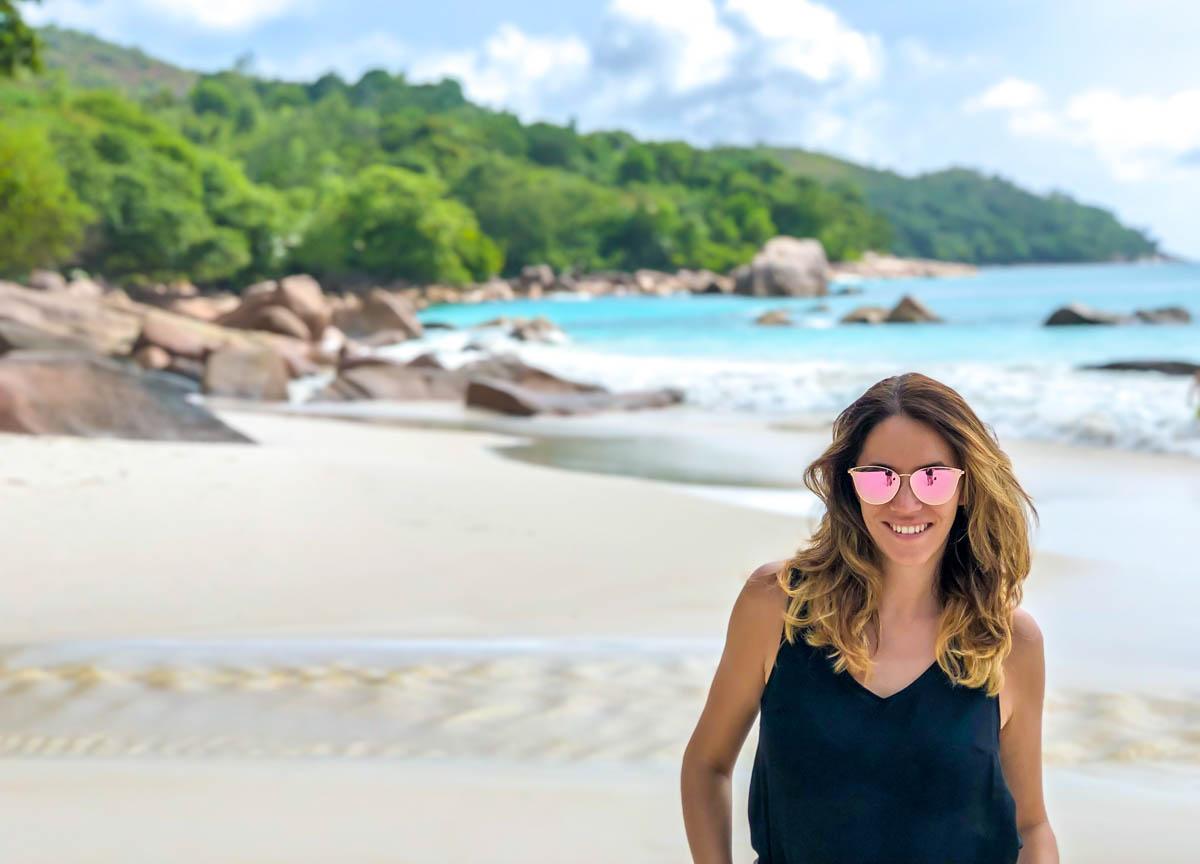 Disfrutando de las playas de Seychelles