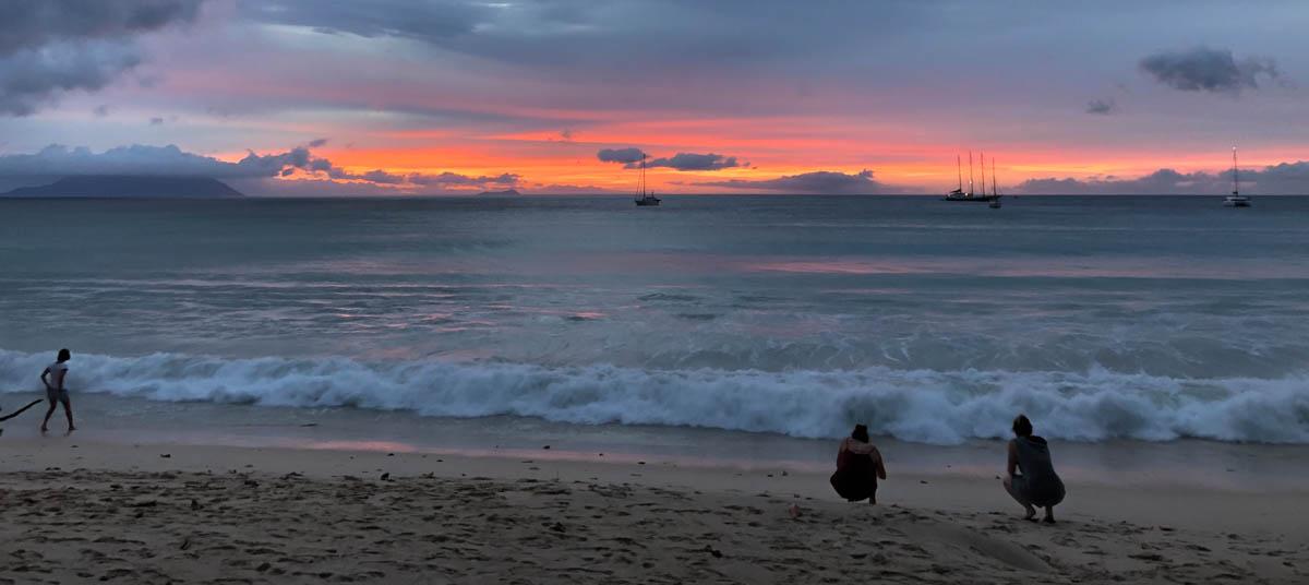 Atardecer en Mahe, Seychelles