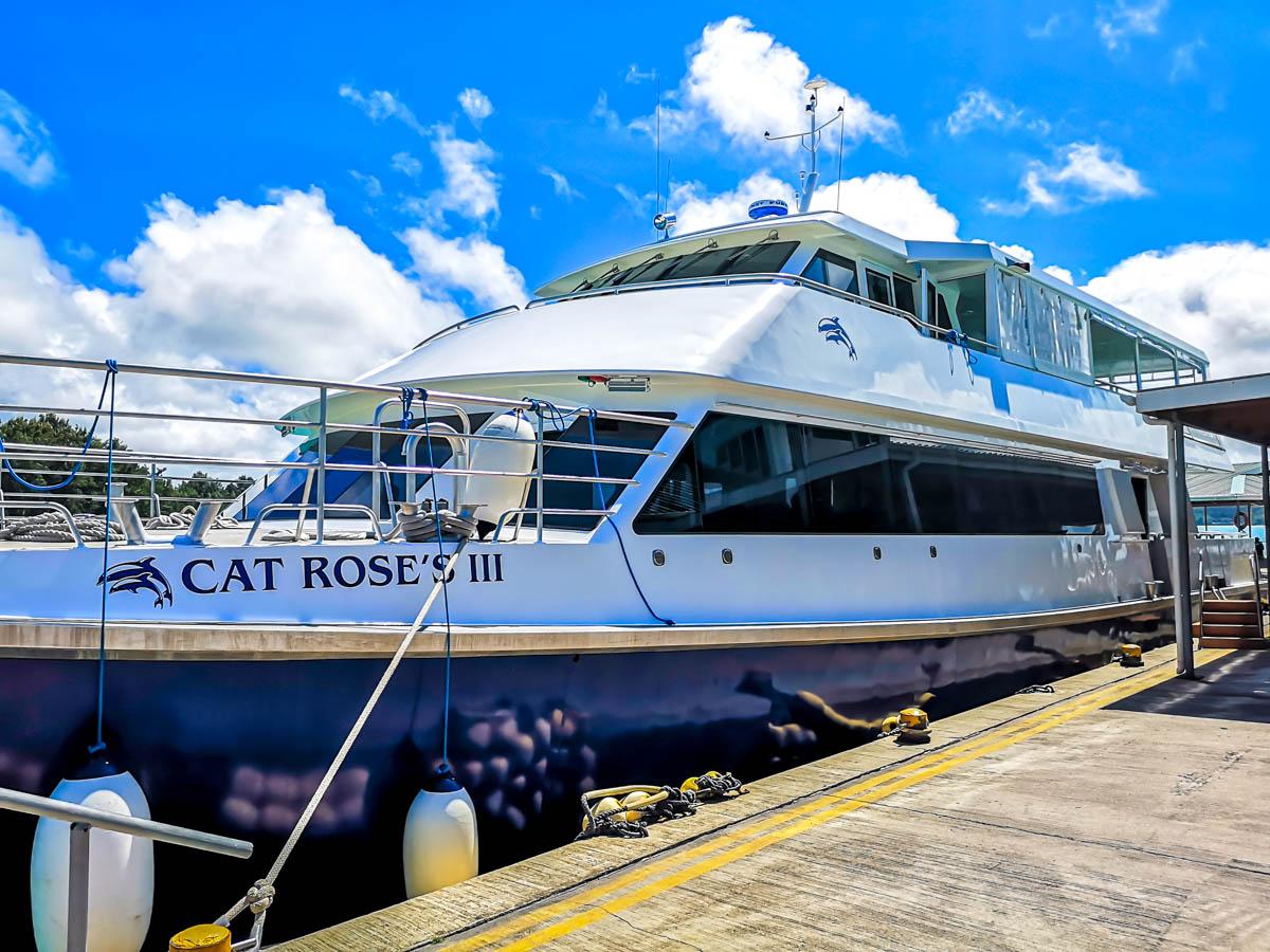 Cat Roses, el ferry que une Praslin con La Digue