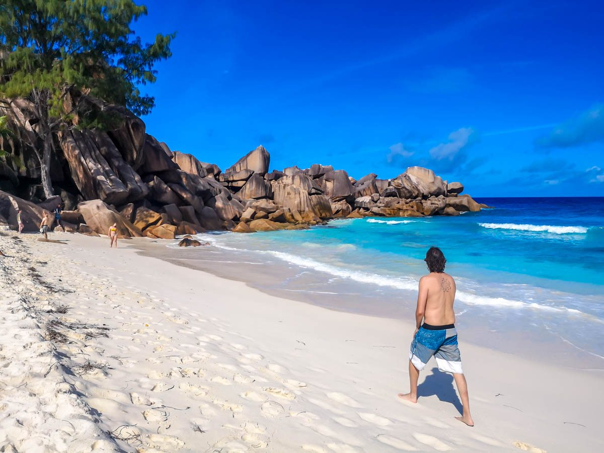 Paseando por Grand Anse, La Digue, Seychelles
