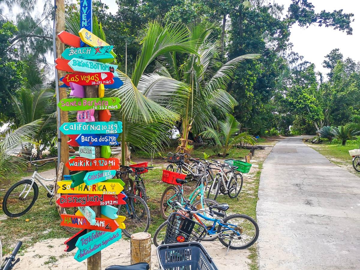 Caminos de La Digue, Seychelles