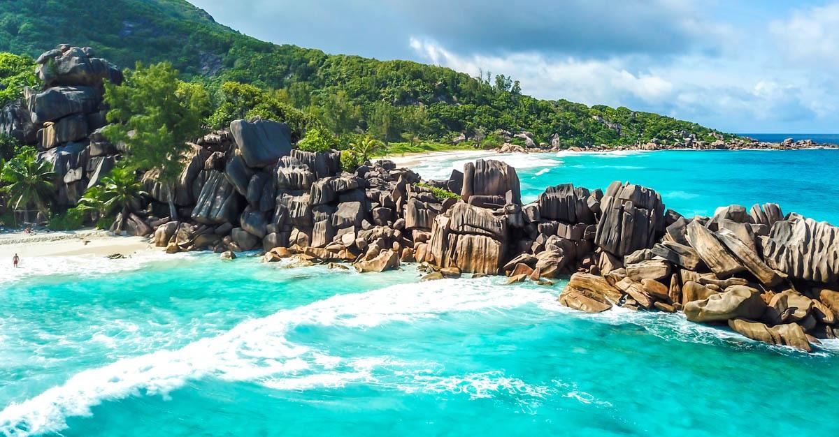 Formaciones graníticas en las playas de La Digue, Seychelles