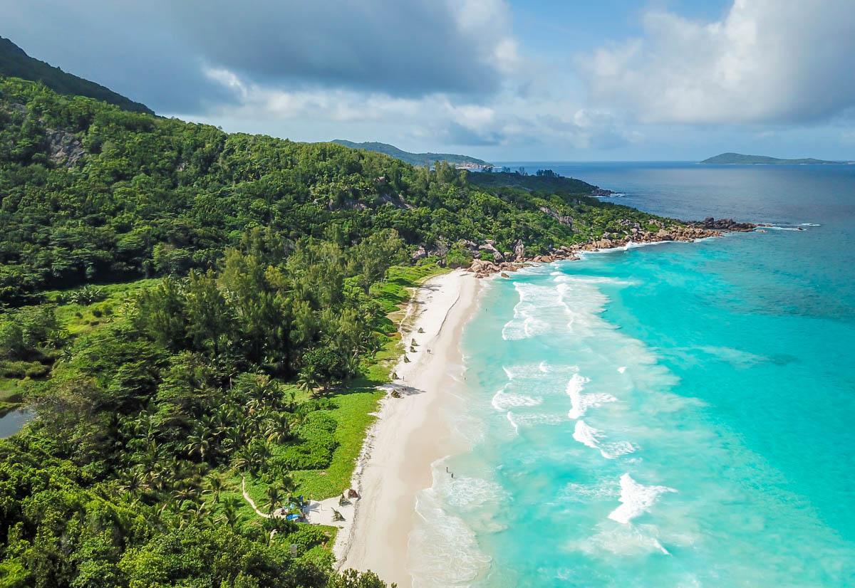 Petit Anse en La Digue, Seychelles