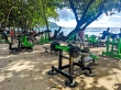 Gimnasio gratis en la playa de Beau Vallon, Mahe, Seychelles