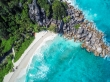 Playas de Seychelles a vista de dron