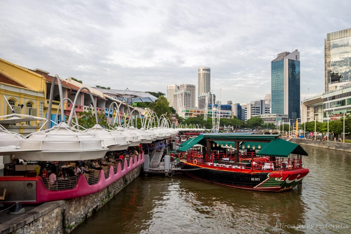 Clarke Quay, barrio de bares y restaurantes, Singapur