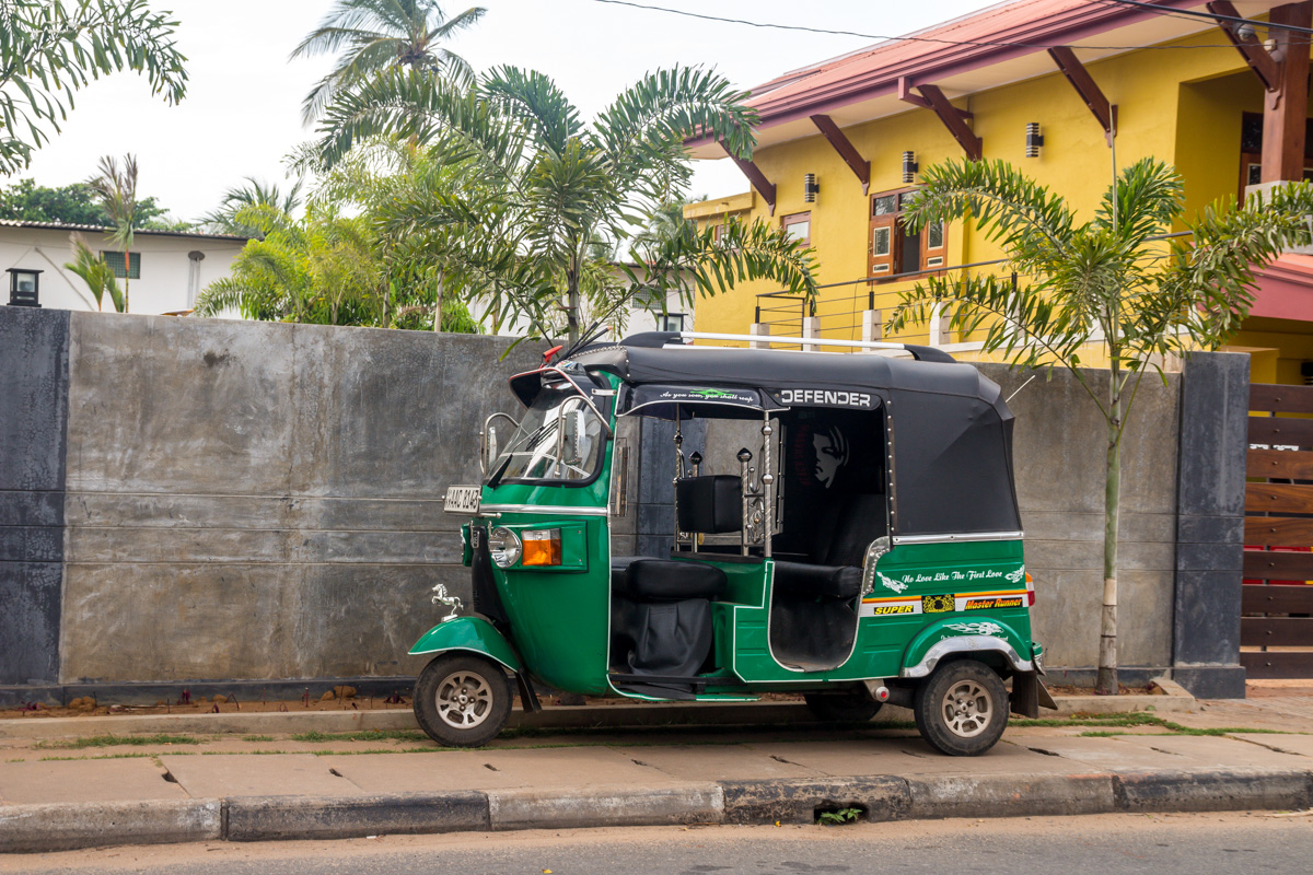 Tuk tuk en Sri Lanka