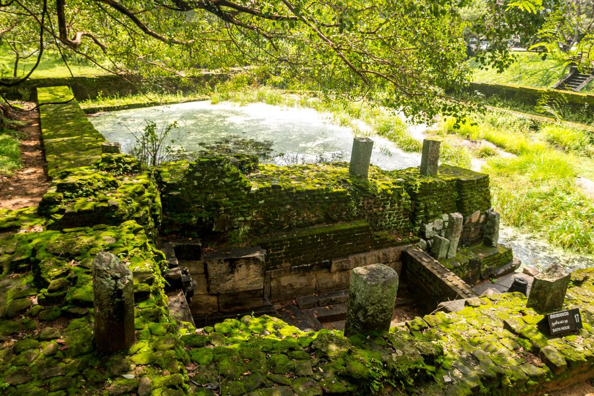 Baños Antiguos Grecia:Antiguos baños, Polonnaruwa