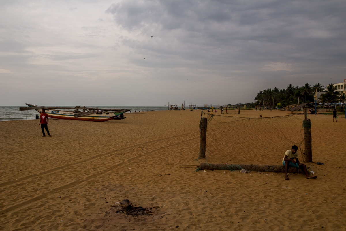 La playa de Negombo