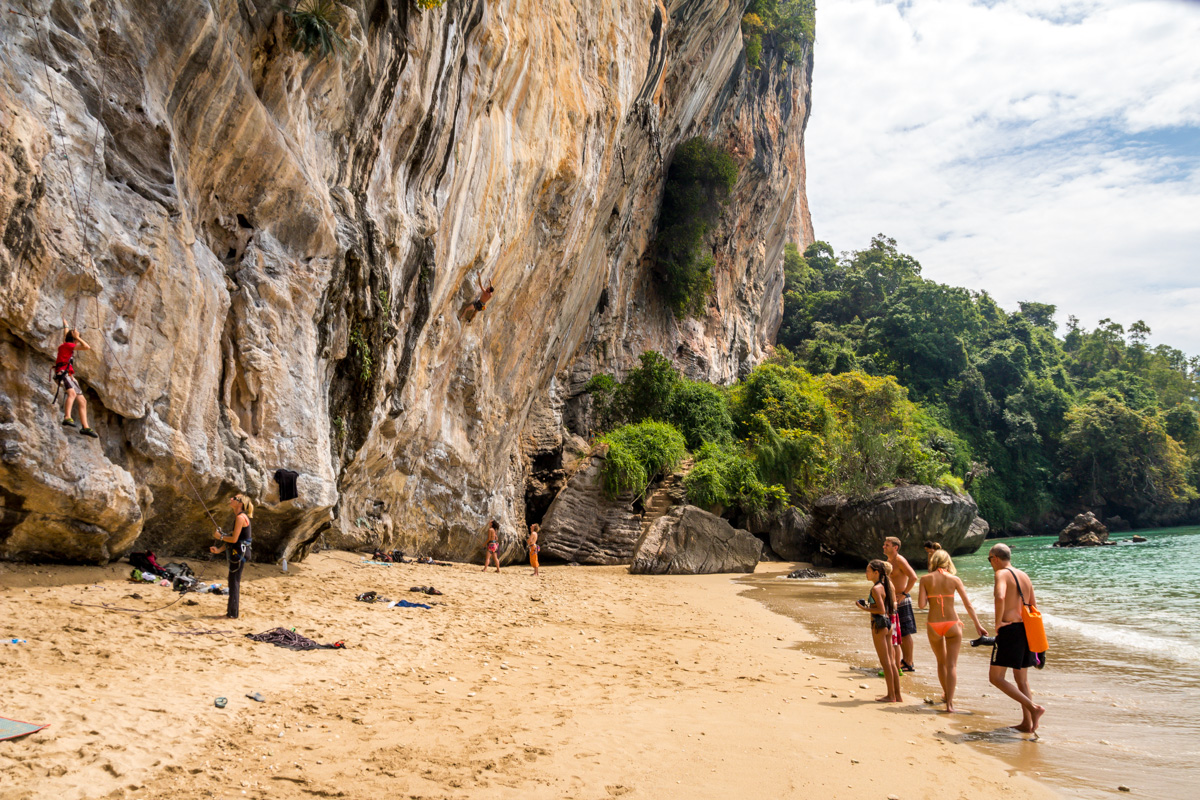 Escalada por doquier, Railay