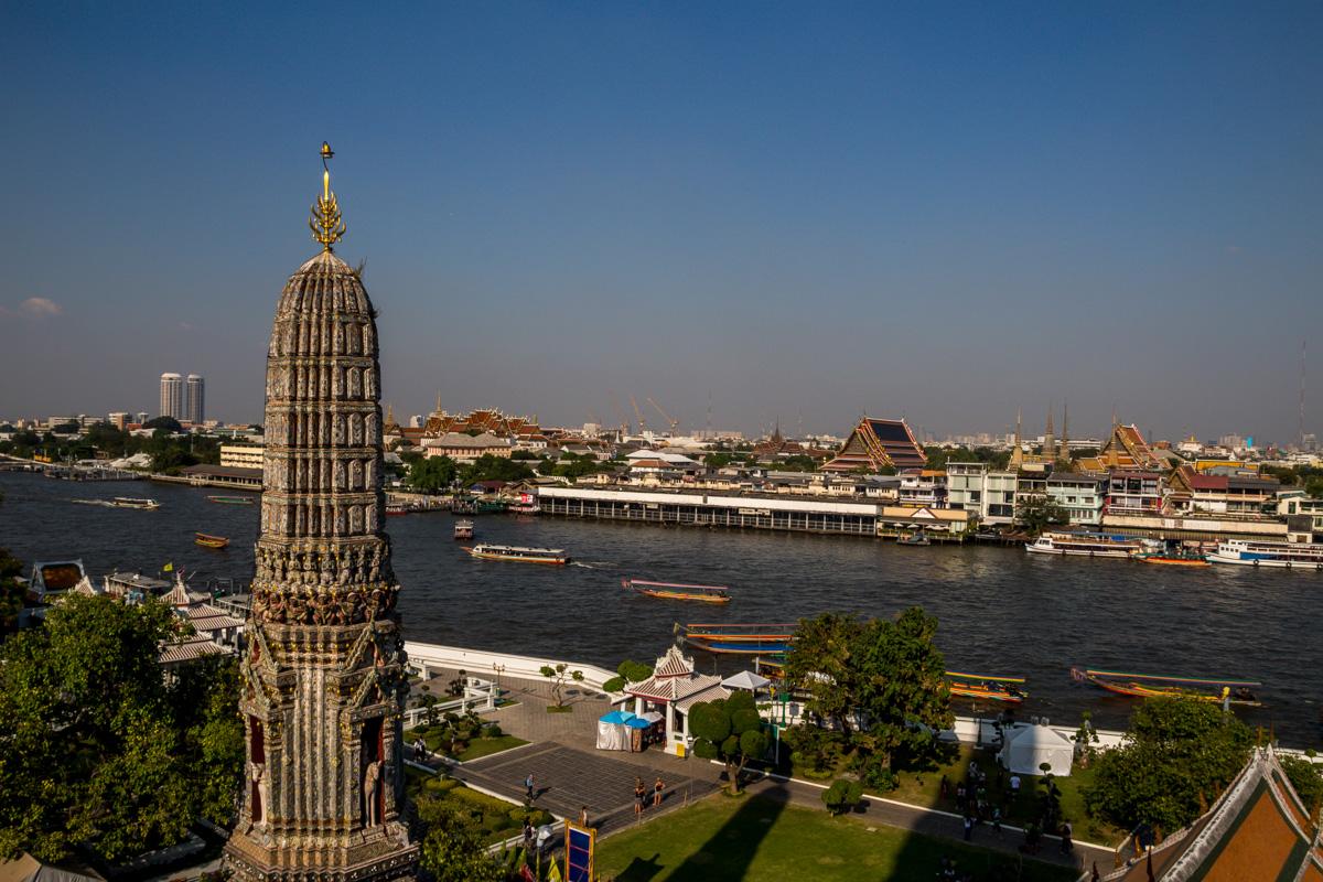 El río Chao Phraya y Bangkok