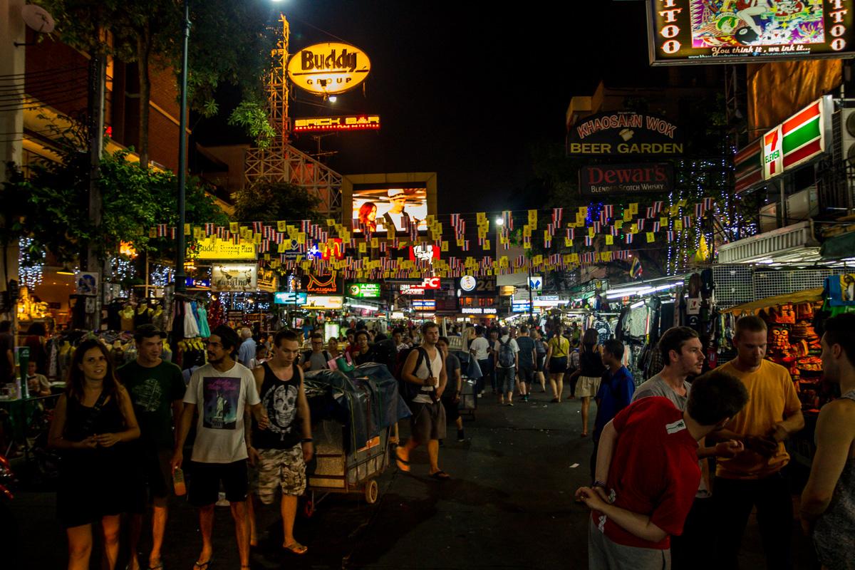 Khaosan Road por la noche