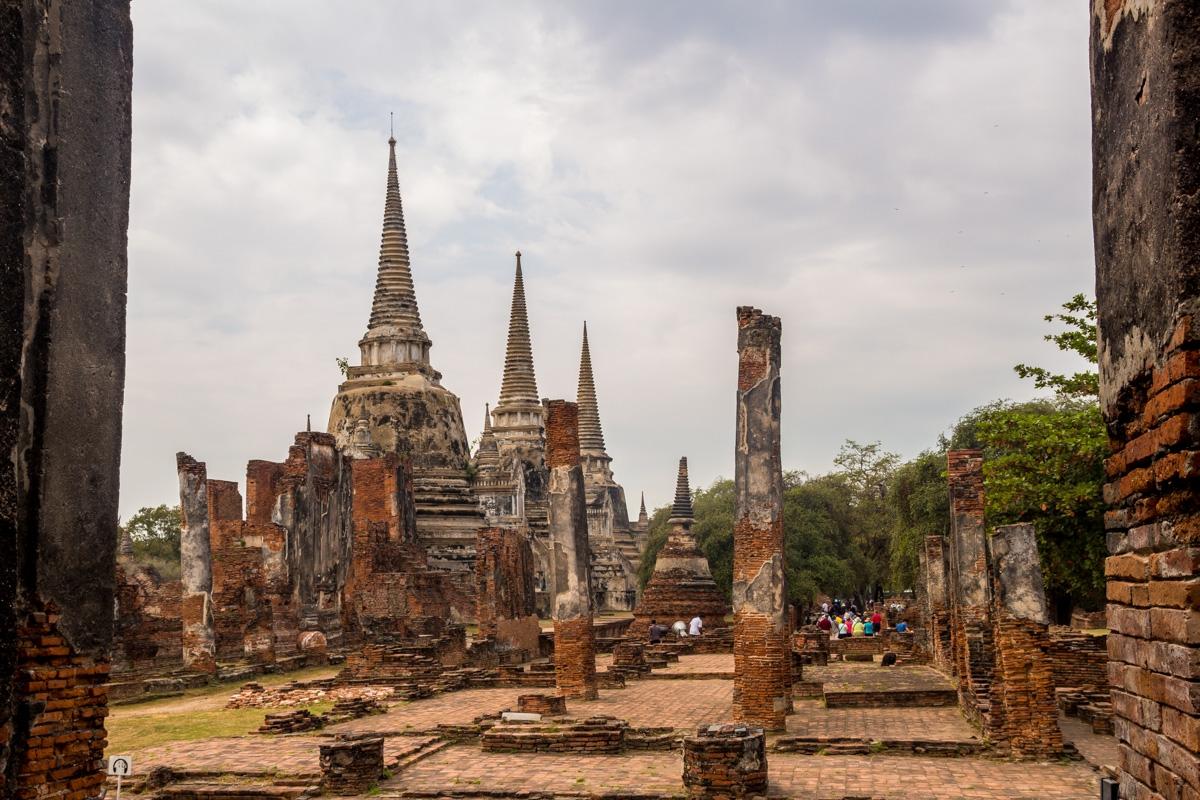Entre las ruinas de Ayutthaya