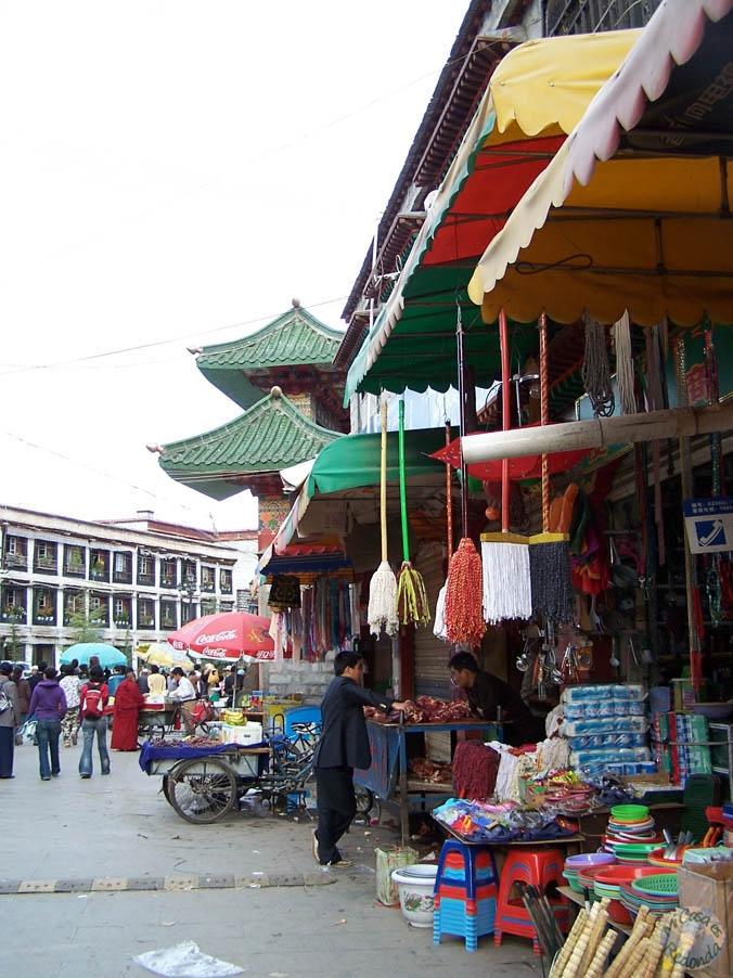 Mercados en el Tibet