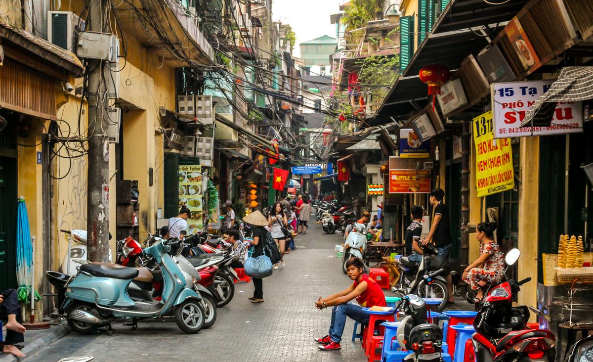 El Old Quarter de Hanoi