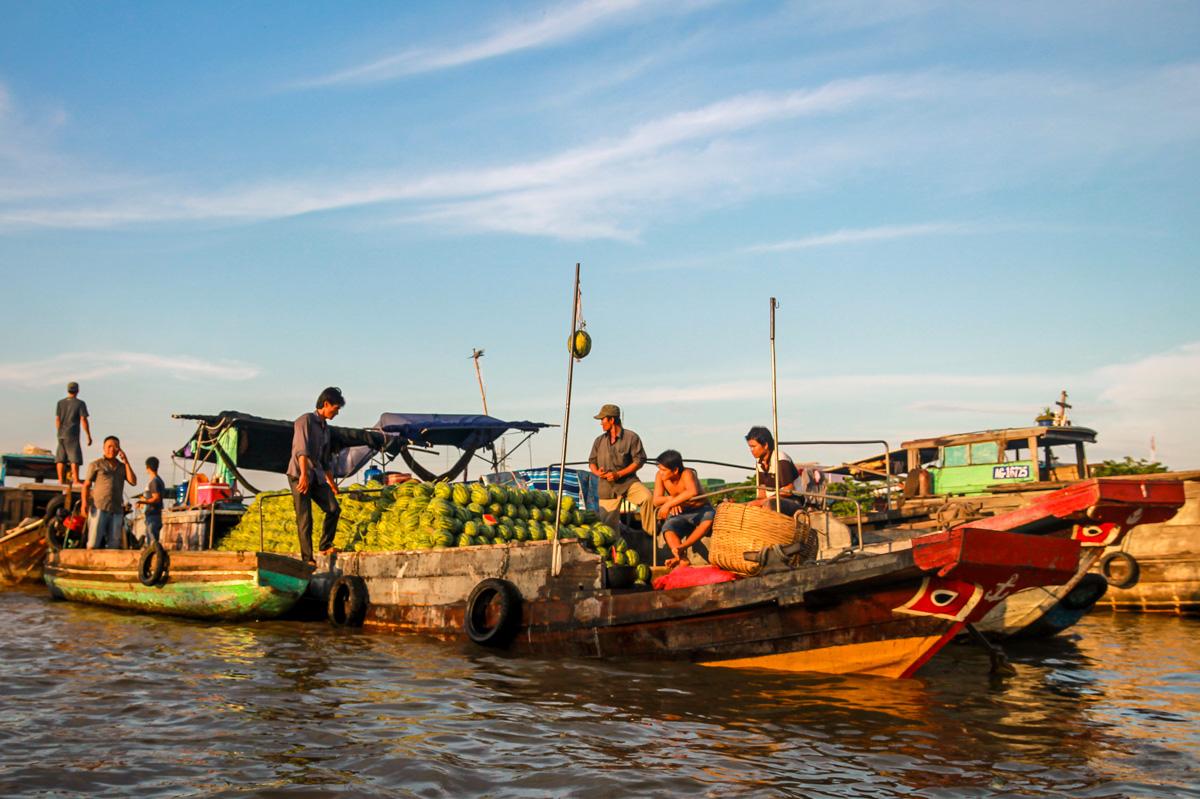 Melones, el palo indica la mercancía