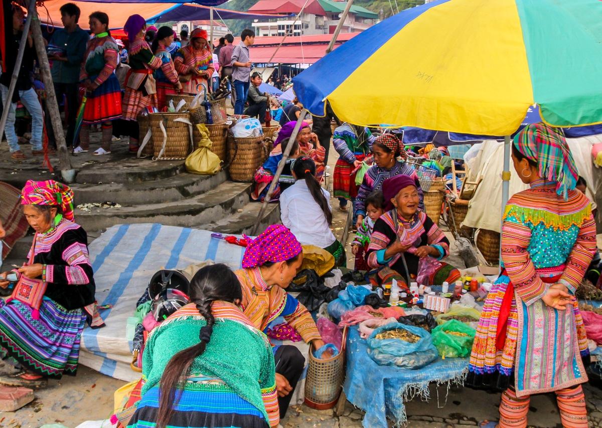 Bac Ha, mercado concurrido