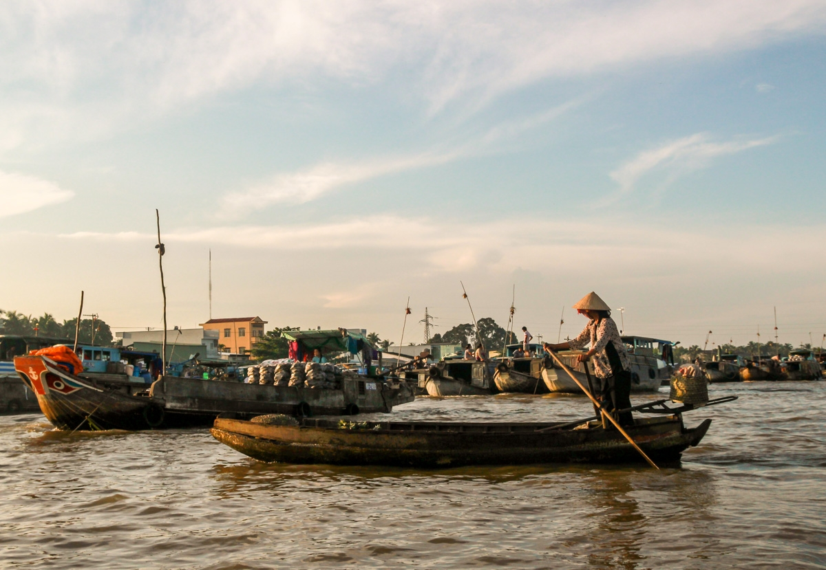 Barcos de todos los tamaños, Cai Rang, Delta del Mekong