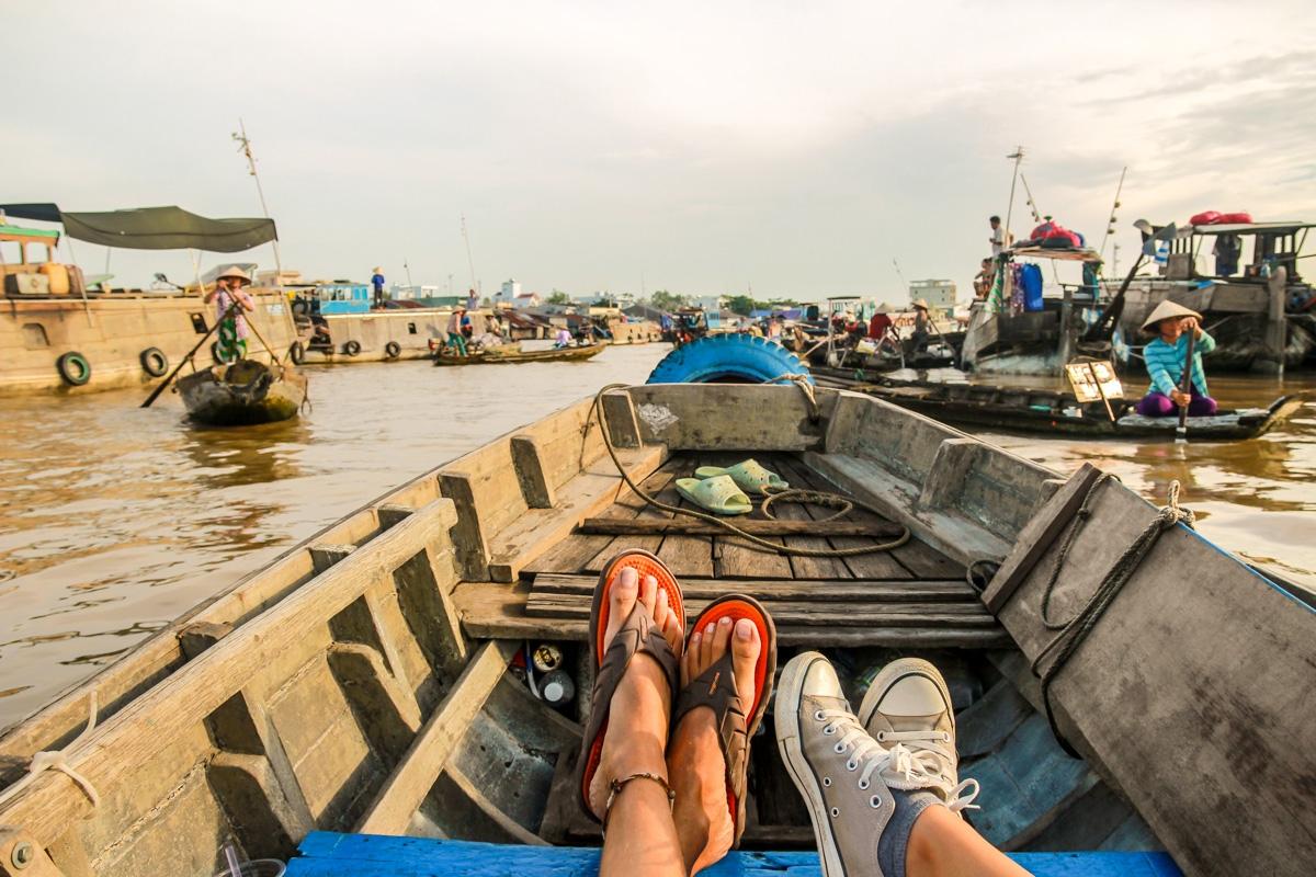 Recorriendo el mercado de Cai Rang, Delta del Mekong