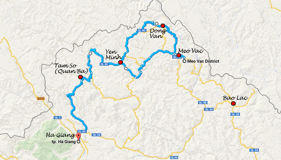 Ruta Ha Giang y Loop QL34 road