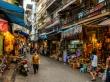 Calles y comercios en Hanoi