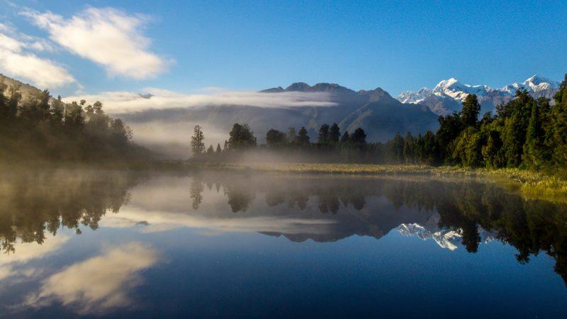 Mirror Lake, Costa Oeste de Nueva Zelanda