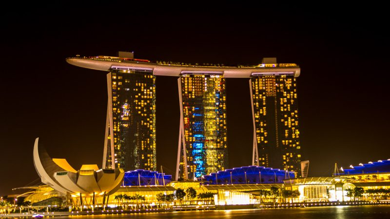 Singapur con mochila