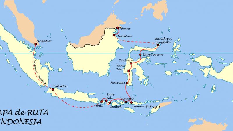 Mapa de Ruta Indonesia