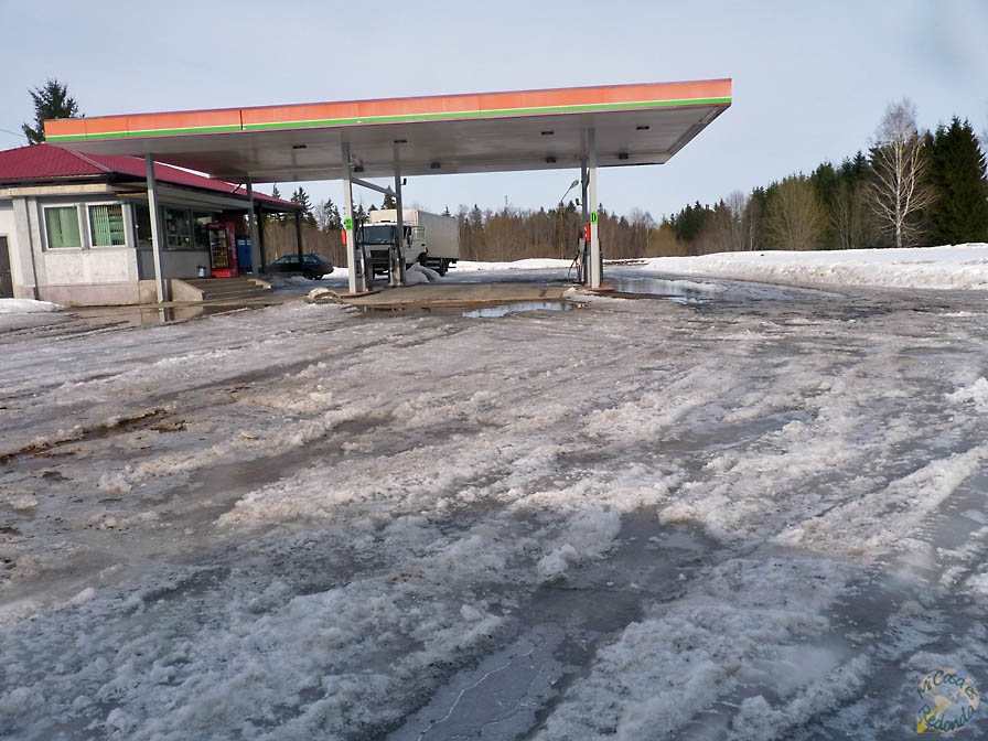 Patinaje sobre gasolinera
