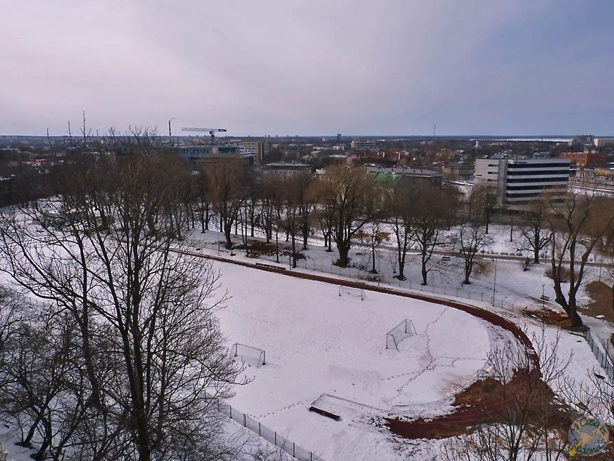 Tallin nevado, desde el centro