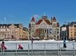 Pequeña pista de hielo en la plaza de la estación, Helsinki