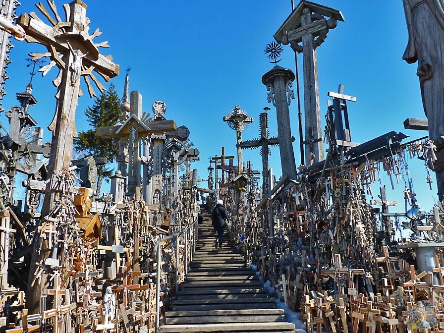 Escaleras a lo alto de la Colina de las Cruces