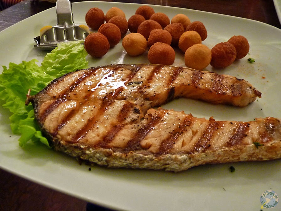 Comiendo salmón, que estamos muy al norte