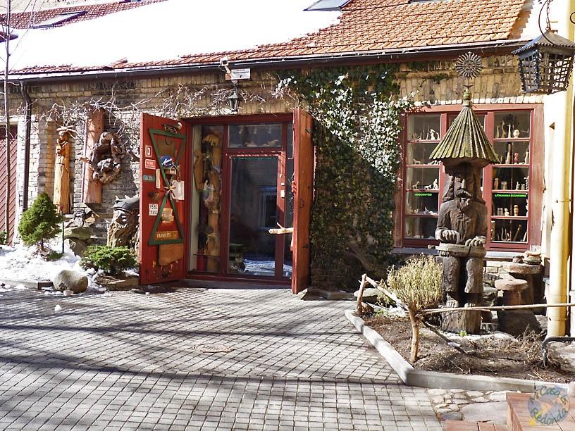 Tienda de artesanía en madera, Vilnius