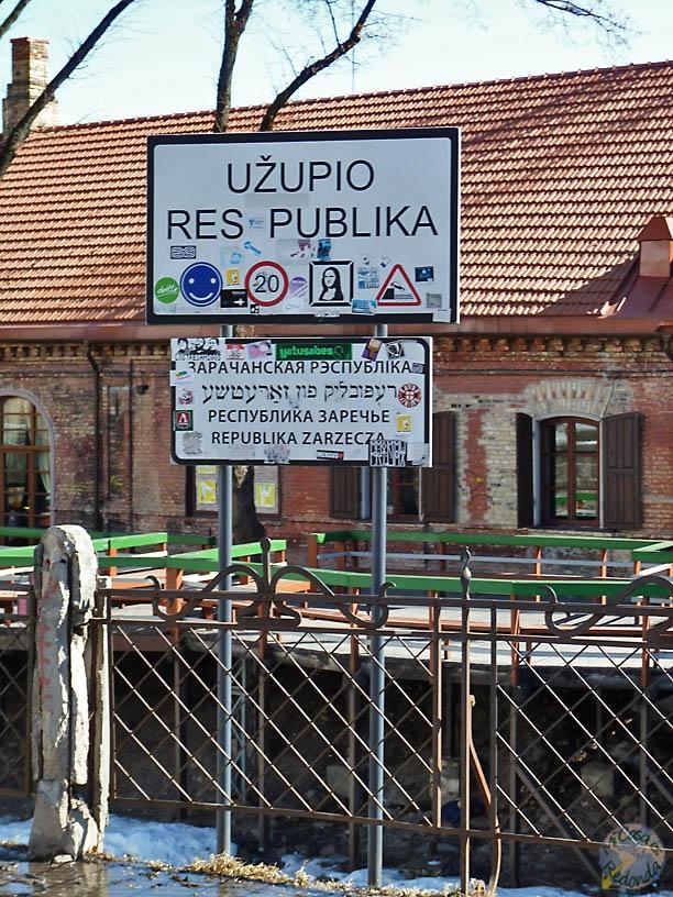Entrando a Uzupis, Vilnius