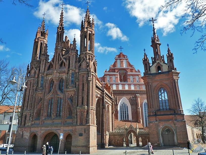 Iglesia de Santa Ana, iglesia de San Francisco y el monasterio de San Bernardino, Vilnius