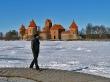 Paseando por el lago, castillo de Trakai