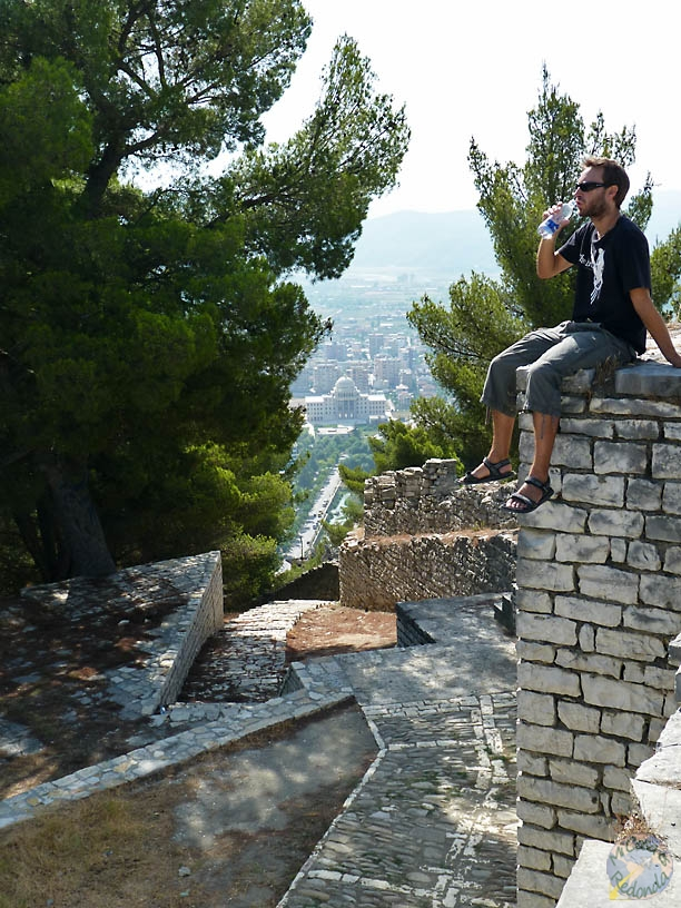 Sitting on the top of the castle..