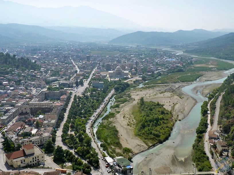 Vistas desde el castillo de Berat