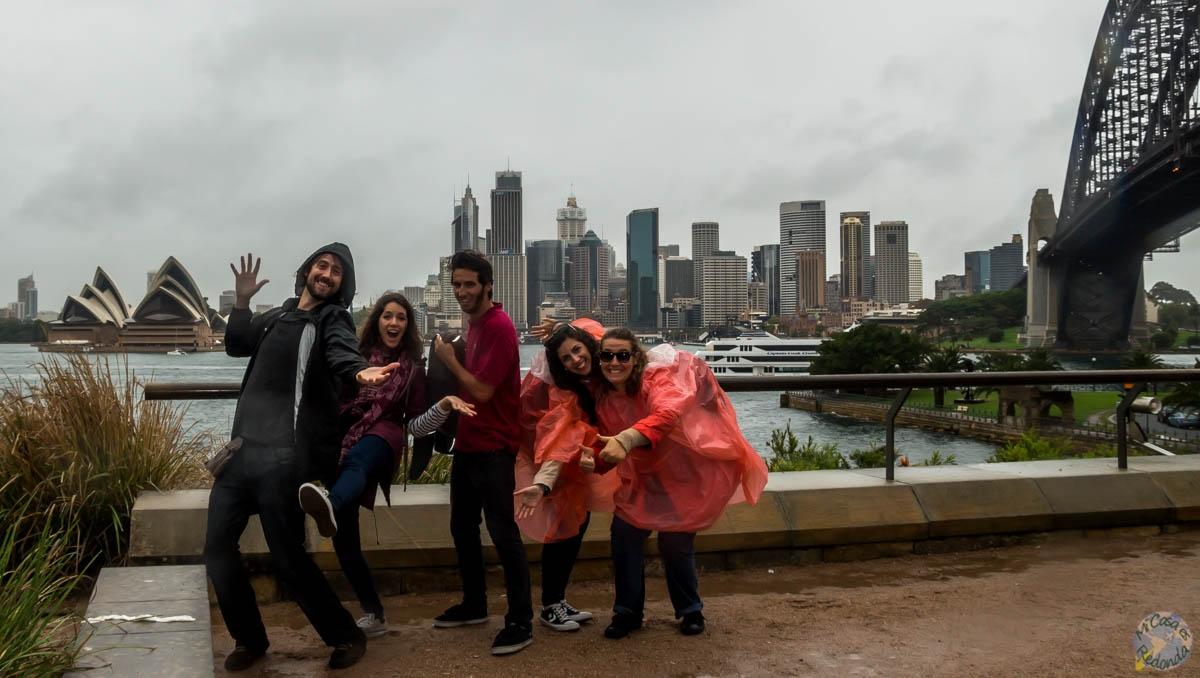 En North Sydney mojándonos