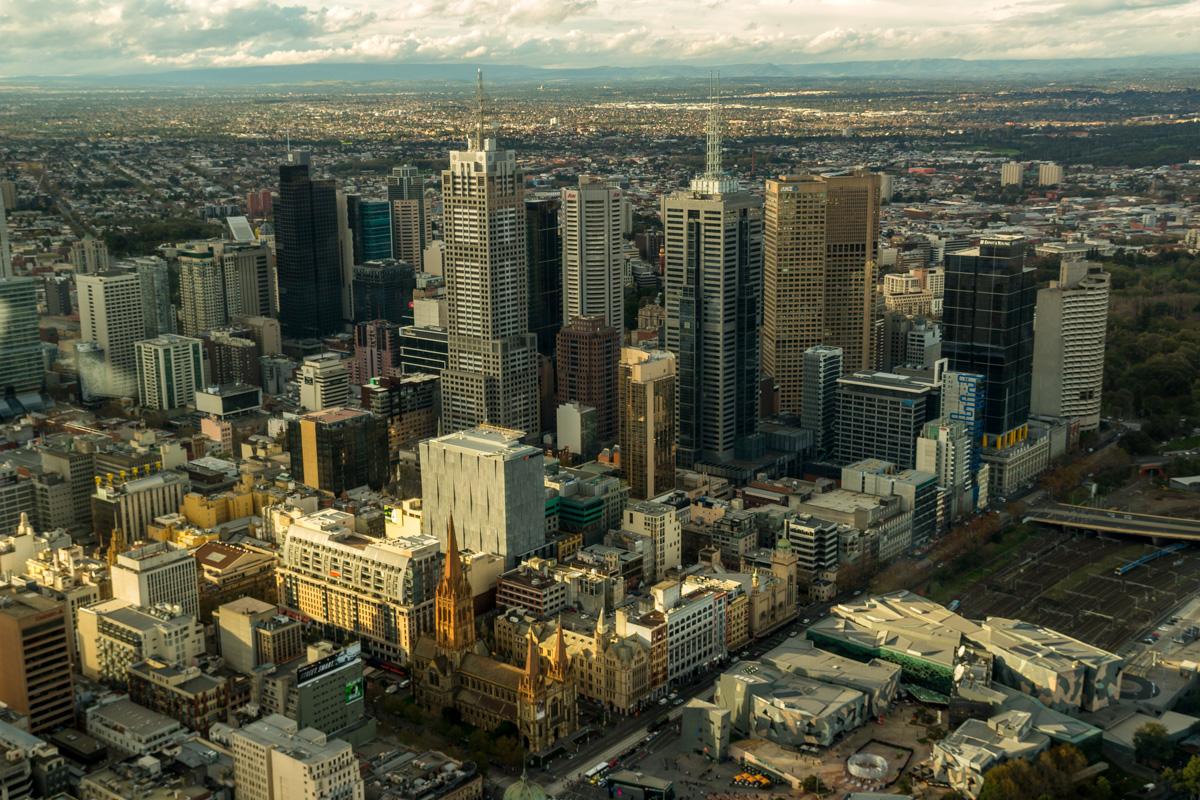 Vistas desde la Eureka Tower, Melbourne