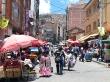 Calles de mercado en la Paz