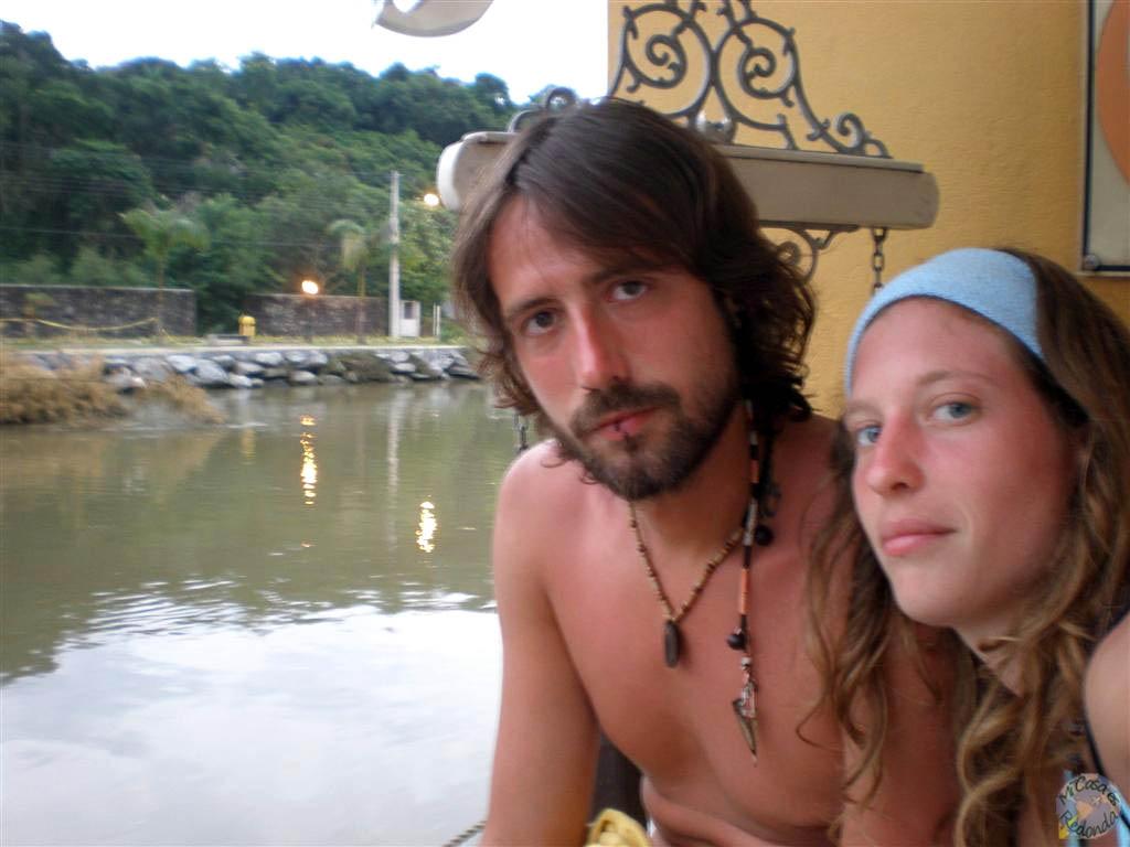 Con Ziortza en el hostel de Paraty