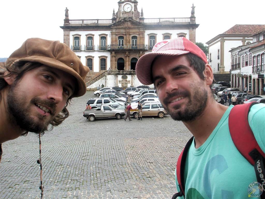 Con Mathieu por Minas Gerais