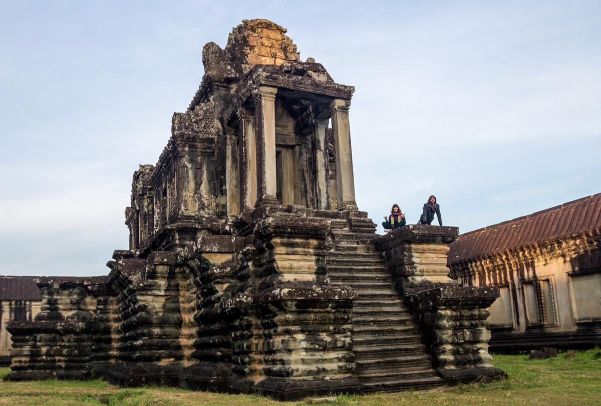 Fotos con trípode en Angkor Wat