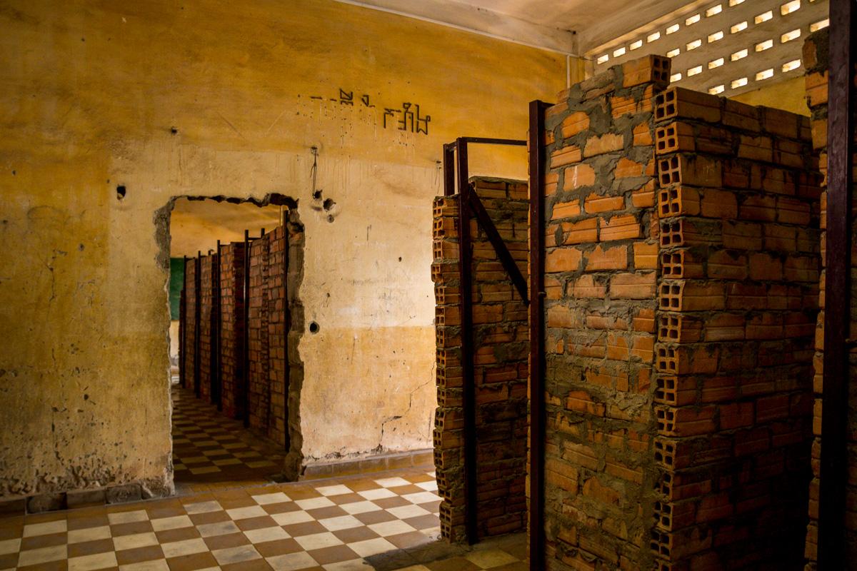 Celdas de menos de 2 m2, Tuol Sleng, Phnom Penh