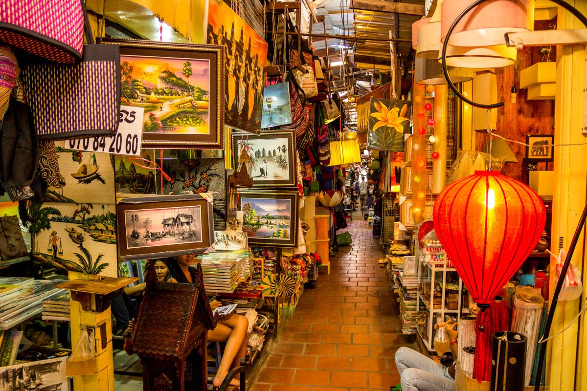 Mercado ruso en Phnom Penh